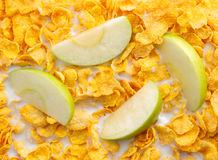 Some apple slices with cereals Royalty Free Stock Image
