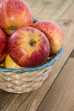 Some Apples in a basket Royalty Free Stock Image