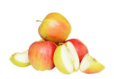 Some apples. Isolated on white stock image