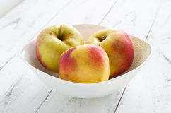 Some apples in the plate Royalty Free Stock Photos