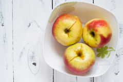 Some apples in the plate Stock Photos
