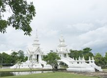 Some area of white temple,Thailand. Royalty Free Stock Photos