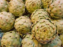 Some artichokes are waiting to be sold. Some artichokes waiting to be sold Royalty Free Stock Photography