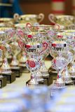 Awards. Some awards on a table Stock Image