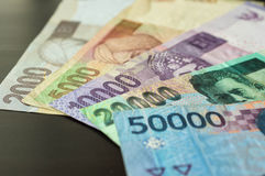 Some banknotes of Indonesian rupiah Royalty Free Stock Photo