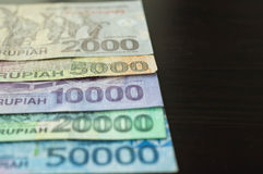 Some banknotes of Indonesian rupiah Royalty Free Stock Images