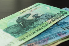 Some banknotes of Indonesian rupiah Royalty Free Stock Image