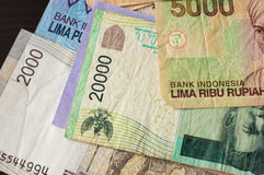 Some banknotes of Indonesian rupiah Royalty Free Stock Photography