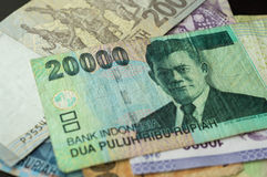 Some banknotes of Indonesian rupiah Stock Photography