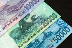 Some banknotes of Indonesian rupiah Stock Images