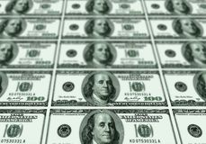 Some banknotes of USA dollars. Background Royalty Free Stock Photos