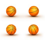 Some basketball balls. Four alone basketball balls illustration vector illustration