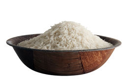 Some basmati rice in bowl Royalty Free Stock Photography