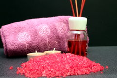 Some bath salts Stock Photo