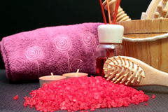 Some bath salts. For aromatherapy Stock Photography