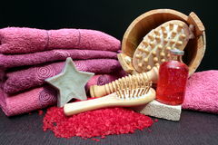 Some bath salts. For aromatherapy Stock Image