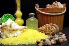 Some bath salts. For aromatherapy royalty free stock image