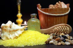 Some bath salts. For aromatherapy Royalty Free Stock Photos
