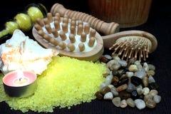 Some bath salts. For aromatherapy Stock Photos