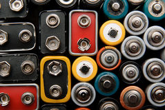Some batteries and accumulator Royalty Free Stock Images