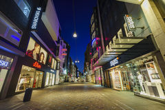 Some beautiful night street view of Dortmund downtown. Dortmund, AUG 31: Some beautiful night street view of Dortmund downtown on AUG 31, 2016 at Dortmund Stock Images