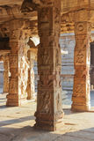 Some beautiful pillar of the Krishna temple in Hampi Royalty Free Stock Image