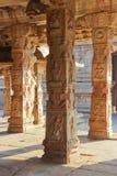 Some beautiful pillar of the Krishna temple in Hampi. A village on the place of the great ancient city Vijayanagara. Karnataka, India Royalty Free Stock Image