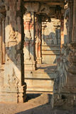 Some beautiful pillar of the Krishna temple in Hampi Stock Photography