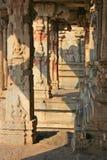 Some beautiful pillar of the Krishna temple in Hampi. A village on the place of the great ancient city Vijayanagara. Karnataka, India Stock Photography