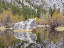 Some beautiful scene of the famous Mirror Lake of Yosemite Royalty Free Stock Images