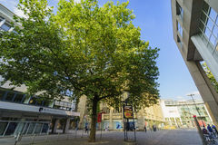 Some beautiful street view of Dortmund downtown. Dortmund, AUG 31: Some beautiful street view of Dortmund downtown on AUG 31, 2016 at Dortmund, Germany Royalty Free Stock Image