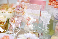 Some beautiful wedding accessories Royalty Free Stock Photography