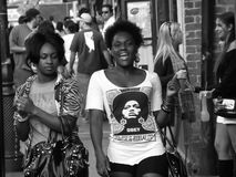 Two Young Women Enjoying the Day in New Orleans. Some of the beautiful women found in New Orleans, These two were enjoying the day in the French Quarter of New Royalty Free Stock Photography