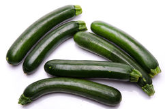 Some beautiful zucchini Royalty Free Stock Images