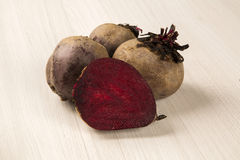 Some beets in a basket over a white background Stock Image