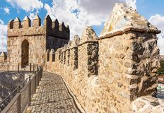 Walls of Avila, World Heritage Site in Spain royalty free stock photo