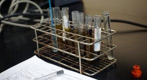 Laboratory tubes Stock Photos