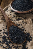 Some Black Lentils (close-up shot) Stock Photos