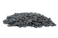 Some black sunflower seeds Stock Images