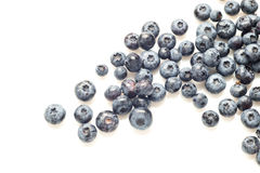Some blueberries isolated on white. Blueberries isolated on white background stock photos