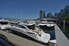 Some boats at coal harbour Royalty Free Stock Images