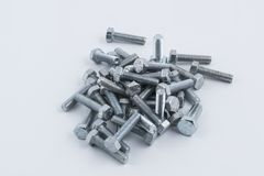 Some bolts. On a white background stock photography