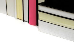 Some books with black and pink. Books on white background, with black and pink book Stock Images