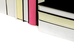 Some books with black and pink. Books on white background, with black and pink book Stock Photography