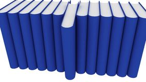 Some books in blue color. animation stock video footage