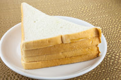 Some bread triangles Royalty Free Stock Photos