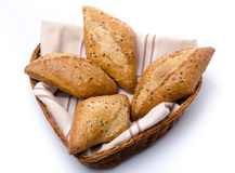 Some breads in a basket Royalty Free Stock Images
