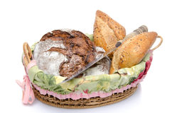 Some breads in a basket Stock Photo