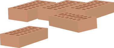 Some bricks in terracotta Royalty Free Stock Image