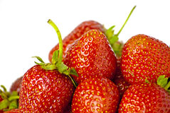 Some bright red strawberries Royalty Free Stock Images